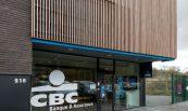 CBC banque et assurances à Spa, réalisation du bardage